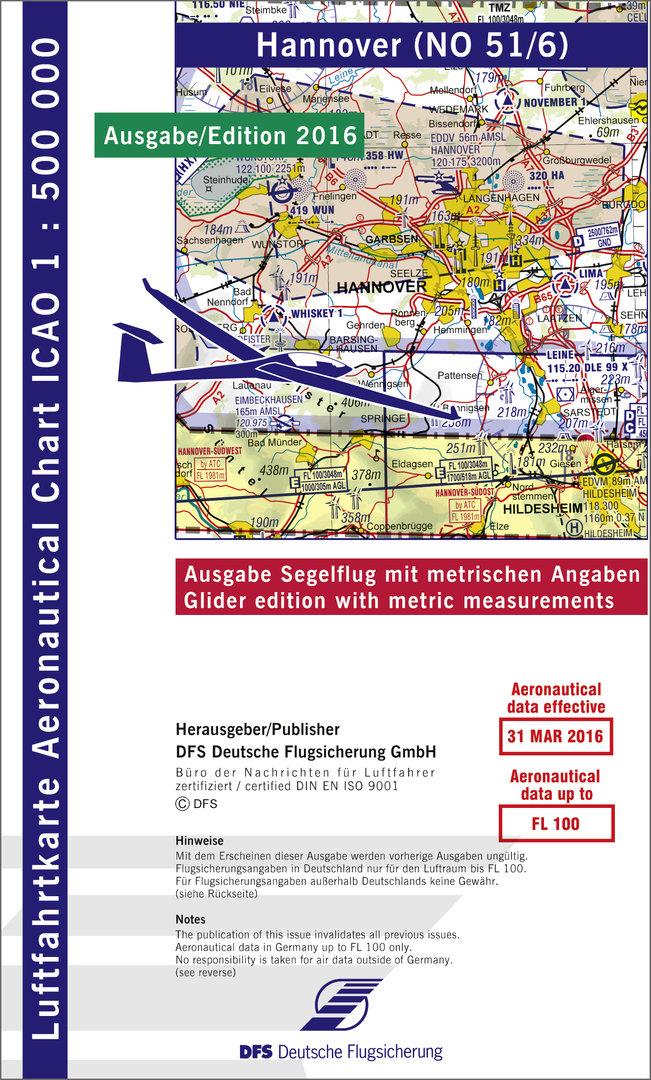 Icao Karten 1 500 000 Deutschland Segelflug Papier